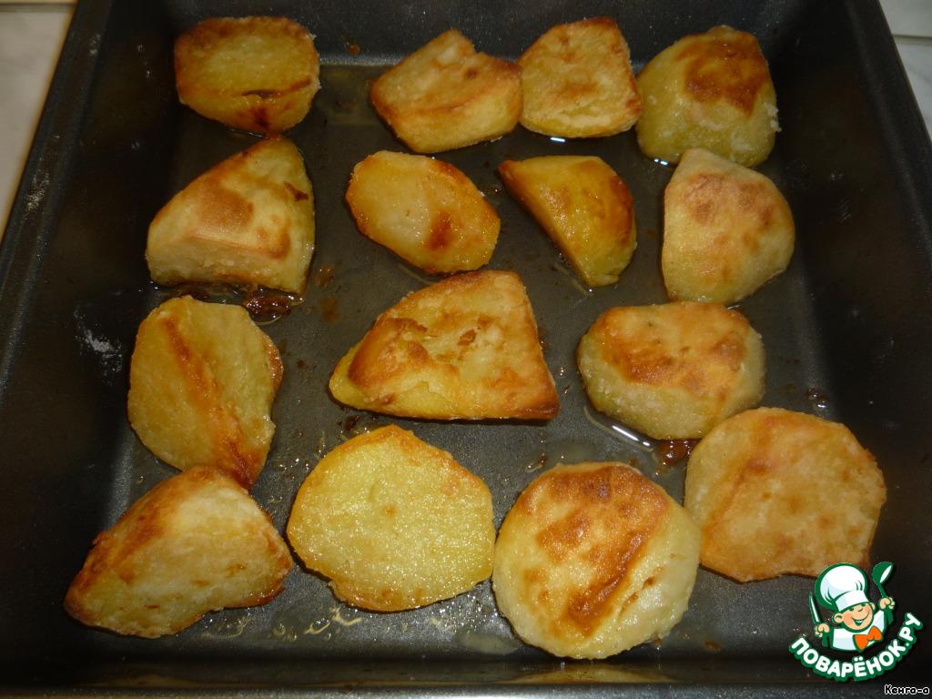 с духовке картошка фото золотистая рецепт в