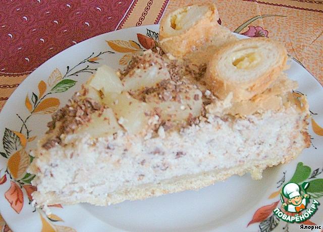 Творожный торт под шапкой из безе