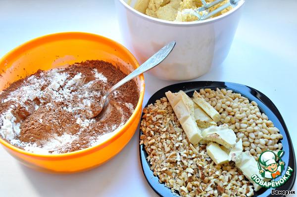 Шоколадно-медовое печенье с орехами