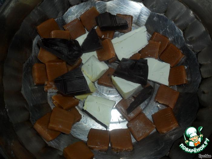 Десерт из кукурузных палочек и ирисок