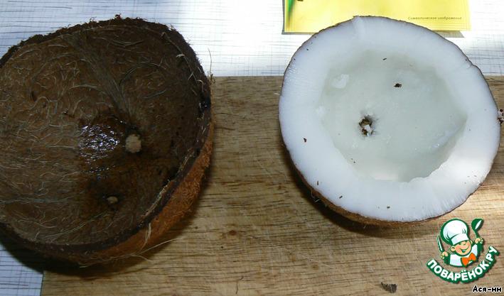 Сливочно-кокосовое суфле с ледяным ананасовым соусом