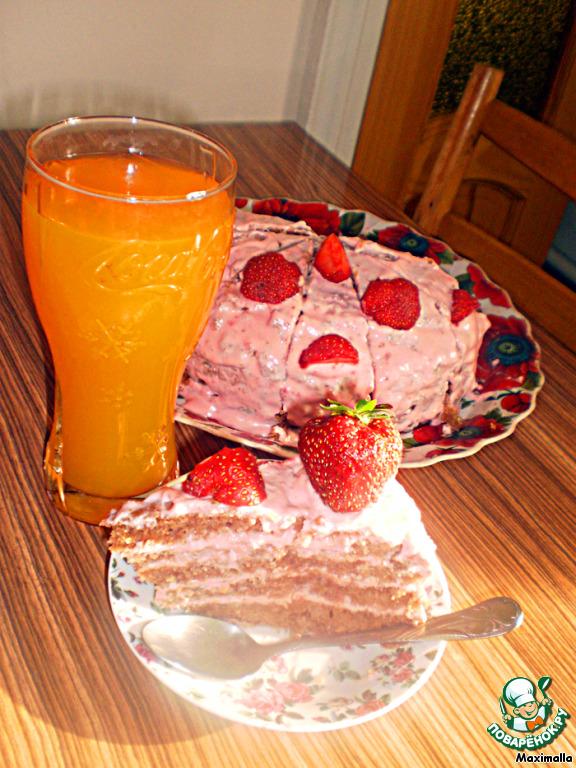 Торт Клубничка со сметанкой
