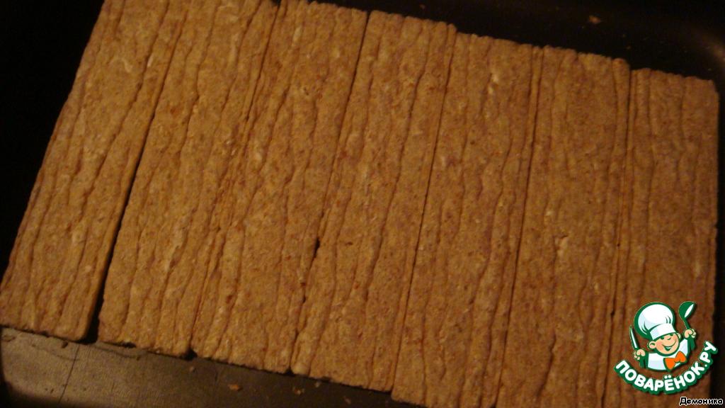 Слойка из хлебцев с сухофруктами