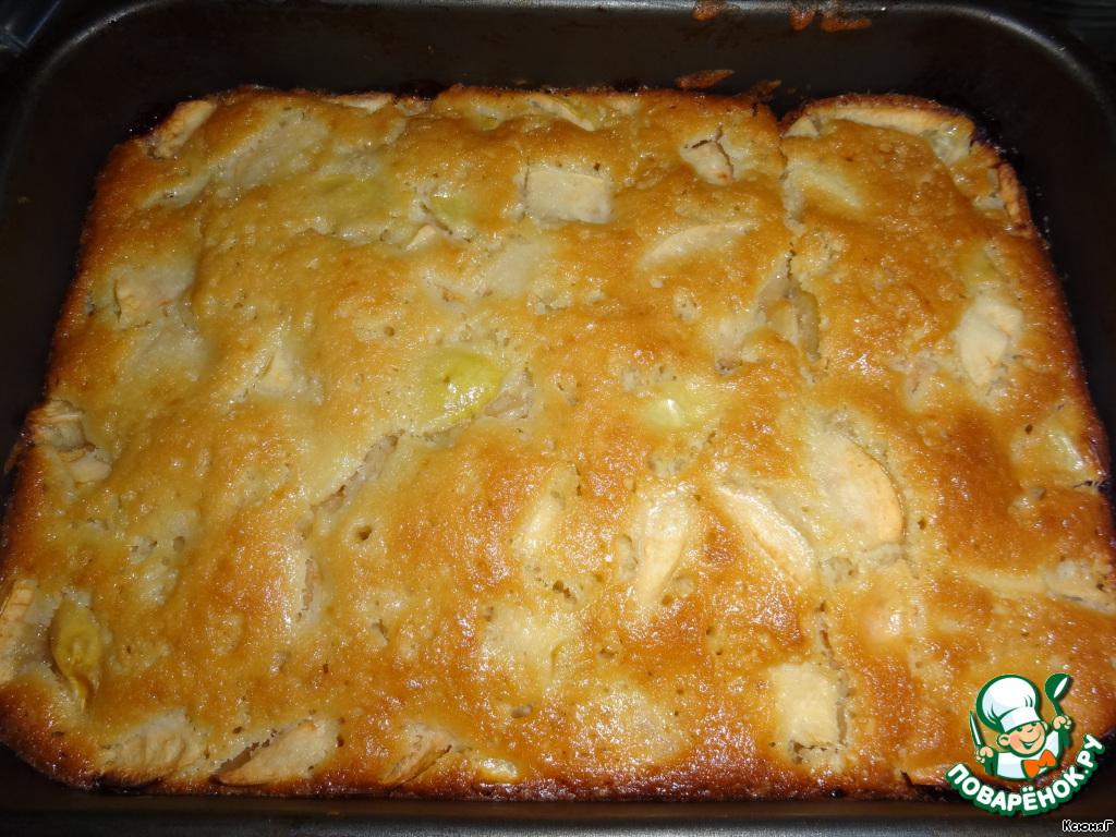 Яблочный пирог на кефире в духовке