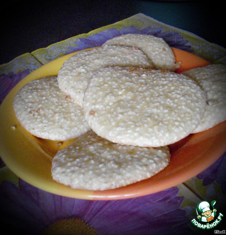Кунжтуное печенье Кунжутики