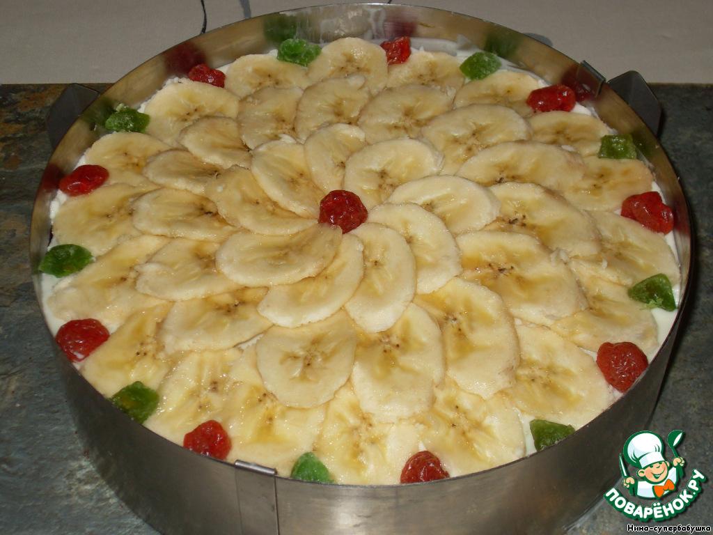 Спонтанный банановый тортик