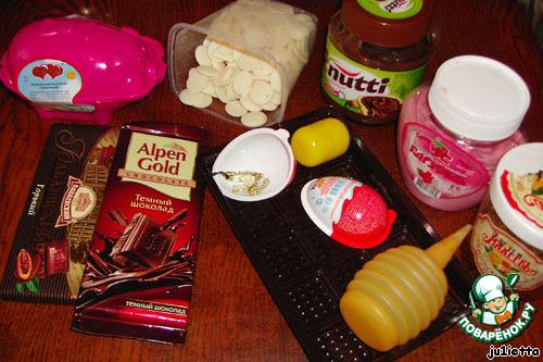 Шоколадная свинья с двойным сюрпризом и ещe одна бонусная шоколадка