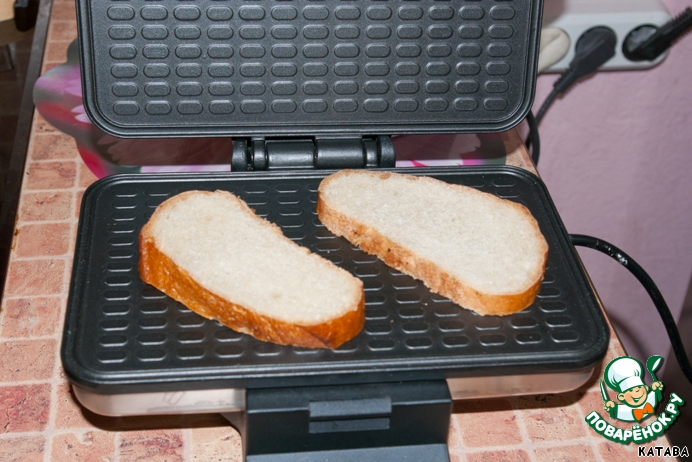 рецепты бутерброды в вафельнице