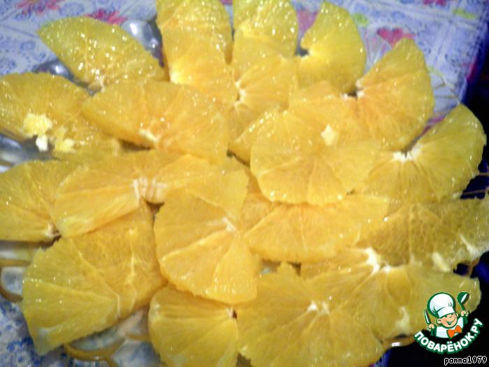 Апельсиновые ломтики с корицей