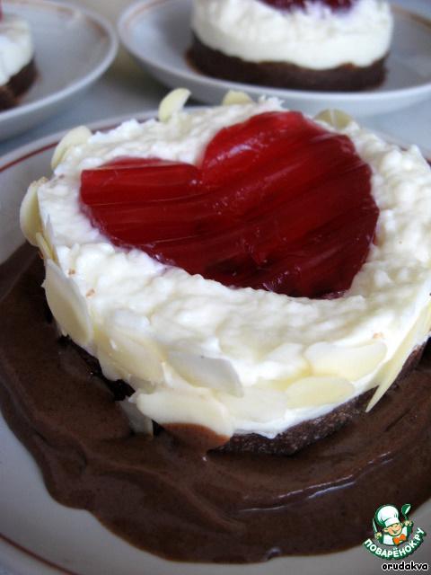 Пирожное Сердечко на облачке