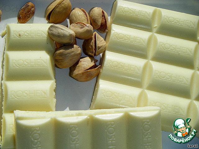 Нежный десерт с белым шоколадом и ликeром Бейлиз
