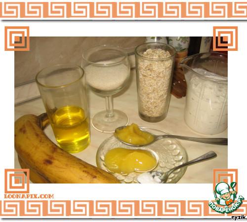 Геркулесовая коврижка с бананами и медом