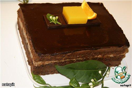 """Торт """"Апельсиновый Захер"""""""