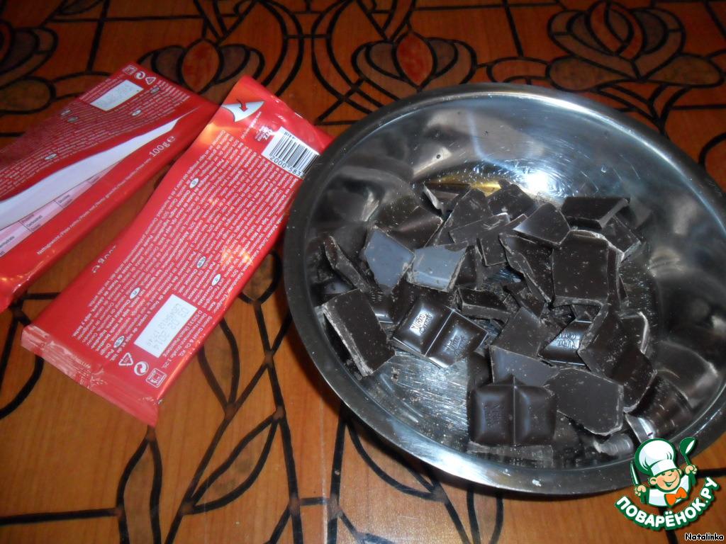 Бананы на палочках в шоколаде