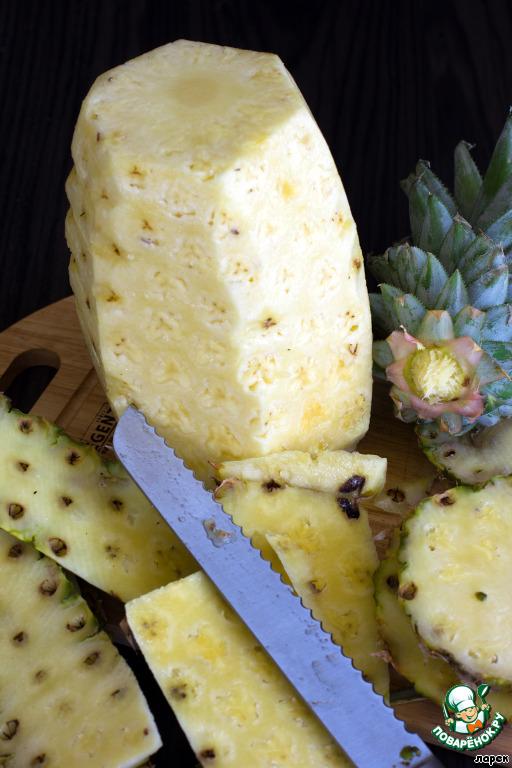 Запеченный в карамели ананас