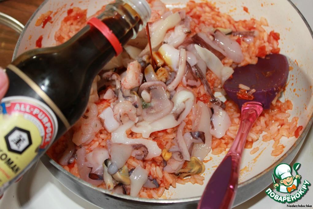как приготовить морской коктейль с гречкой