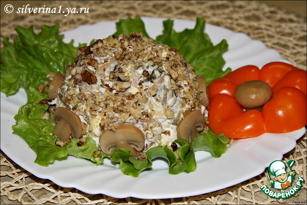 Смотреть Салат из грибов и мяса с фото видео