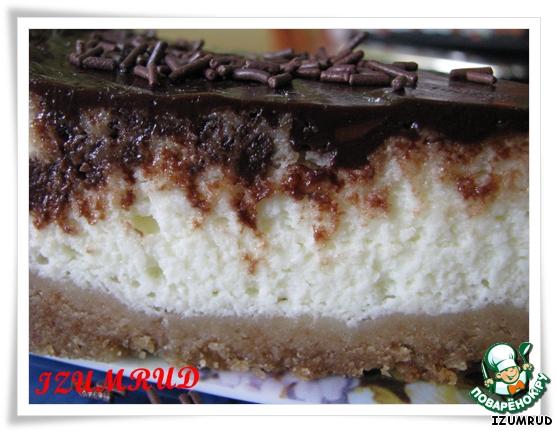 Чизкейк ванильно-шоколадный