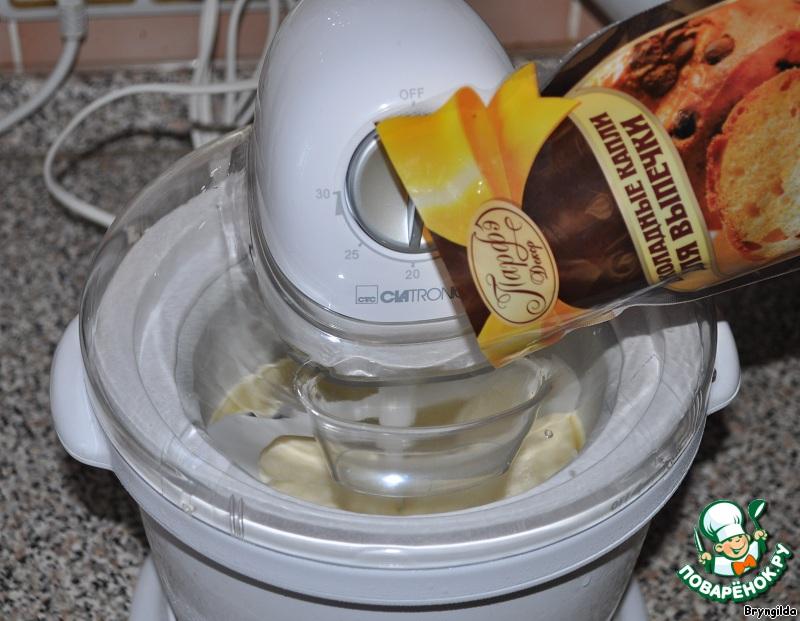 Мороженое заварное с шоколадными каплями