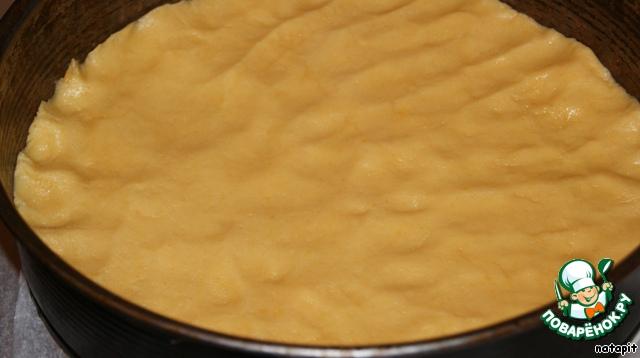 Сырник с вишней и яблоками