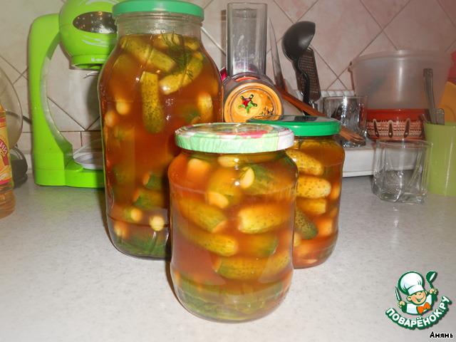 Рецепт корнишонов в кетчупе
