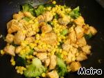 Лосось с брокколи и кукурузой ингредиенты