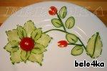 Цветок из огурца ингредиенты