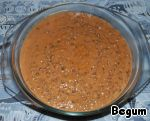 Spread (or rather poured) the lentils in a deep bowl and serve under the exotic name of