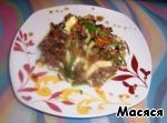Салат с сырным омлетом – кулинарный рецепт