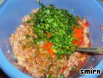 Мясные котлетки с зелeной редькой ингредиенты