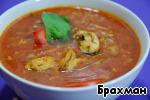 Томатный суп с рисом и мидиями – кулинарный рецепт