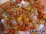 Рыба с овощами и арахисом в сливочно-сырном соусе ингредиенты
