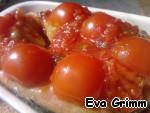 Далее выкладываем лечо на томаты