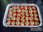 Запеченые помидоры, фаршированные сыром фета – кулинарный рецепт