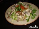 Теплый салат с печенью и шампиньонами ингредиенты