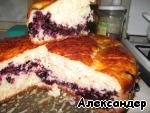 Пирог с черникой и ватрушки – кулинарный рецепт
