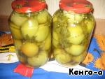 Рецепт зеленых помидор с чесноком и хреном