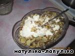 Теплый салат из печени ингредиенты