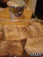 Треска в сметане с овощным гарниром – кулинарный рецепт