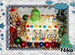 """Творожно-сливочный торт """"Новогодний"""" ингредиенты"""