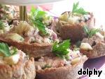 Волованы с печенью трески и грибами – кулинарный рецепт