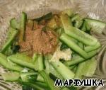 Огурец с мясом по-корейски ингредиенты