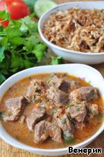 Говядина в остром соусе по-арабски – кулинарный рецепт