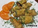 Горячие рулеты из баклажанов с сыром ингредиенты