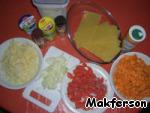 Ингредиенты, которые нам понадобятся.       Для лазаньи лучше использовать мускатную тыкву. Такой сорт тыквы как Хоккайдо (Hokkaido - самая маленькая тыква), скорее испортит вкус лазаньи.