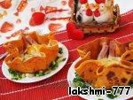 Яичница с ветчиной в томатных блинчиках ингредиенты