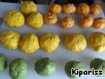 Трехцветные булочки-косички – кулинарный рецепт