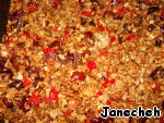 Mix hot granola with cherries, dates, chopped into pieces, mix and leave to cool on the baking sheet. After 5-10 minutes stir.