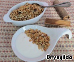 I served the granola with natural yoghurt. Bon appetit!  They can be prepared once more, and a quick and healthy Breakfast You provided!
