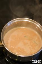 Stir until then, until the caramel is completely dissolved.